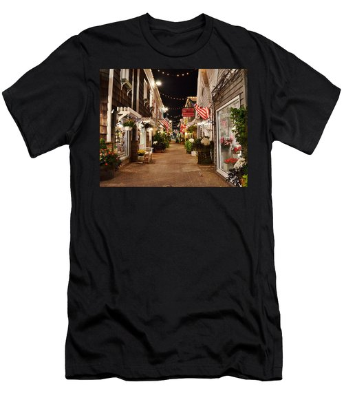 Penny Lane At Night - Rehoboth Beach Delaware Men's T-Shirt (Athletic Fit)