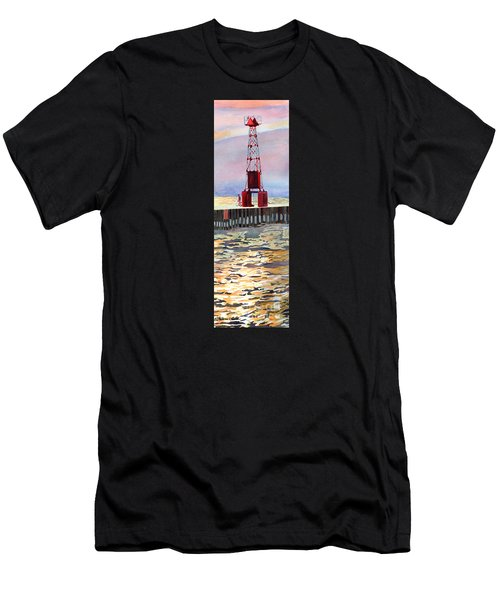 Pentwater South Pier Men's T-Shirt (Athletic Fit)