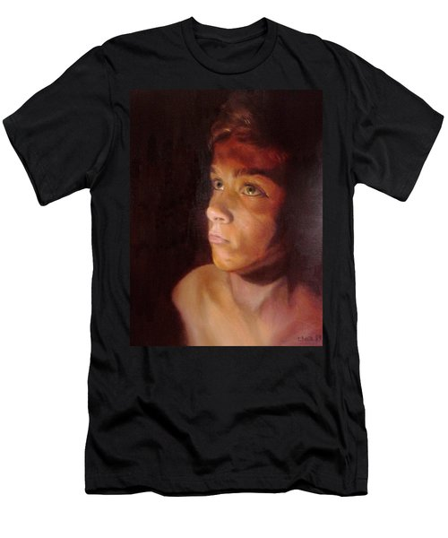 Men's T-Shirt (Slim Fit) featuring the painting Penumbra by Cherise Foster