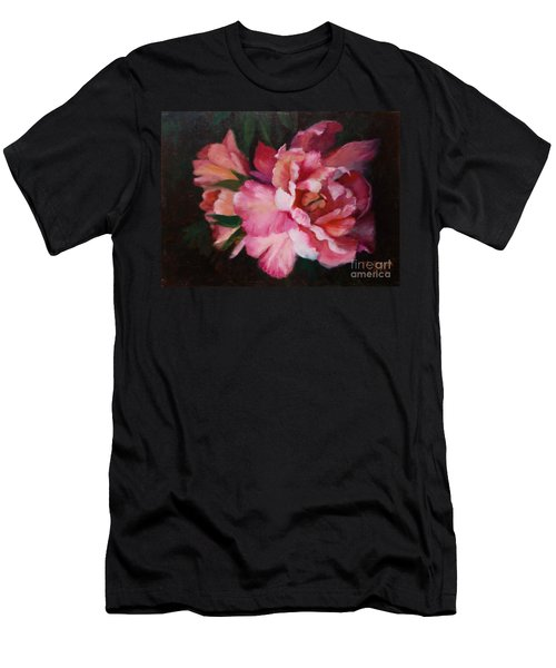 Peonies No 8 The Painting Men's T-Shirt (Slim Fit) by Marlene Book