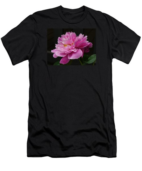 Peony Blossoms Men's T-Shirt (Slim Fit) by Lingfai Leung