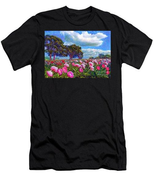 Peony Heaven Men's T-Shirt (Athletic Fit)