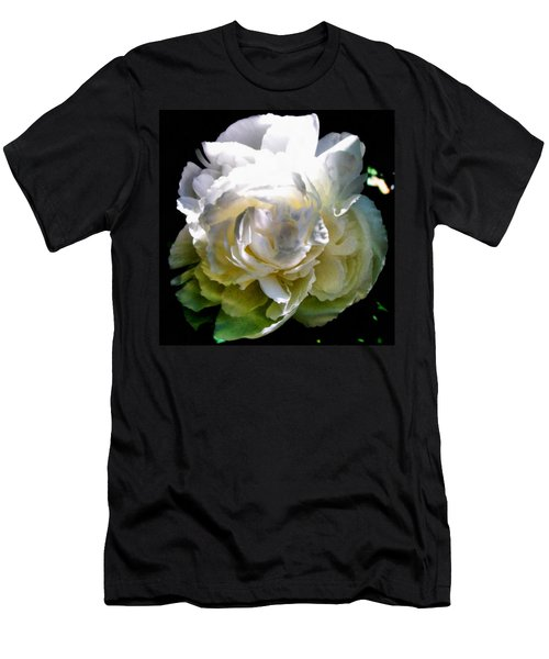 Peony In Morning Sun Men's T-Shirt (Athletic Fit)
