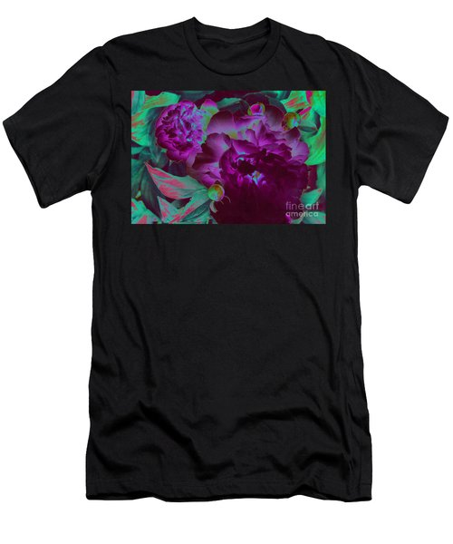 Peony Passion Men's T-Shirt (Slim Fit) by First Star Art