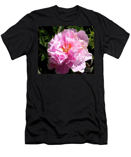 Men's T-Shirt (Athletic Fit) featuring the photograph Peony by Sher Nasser