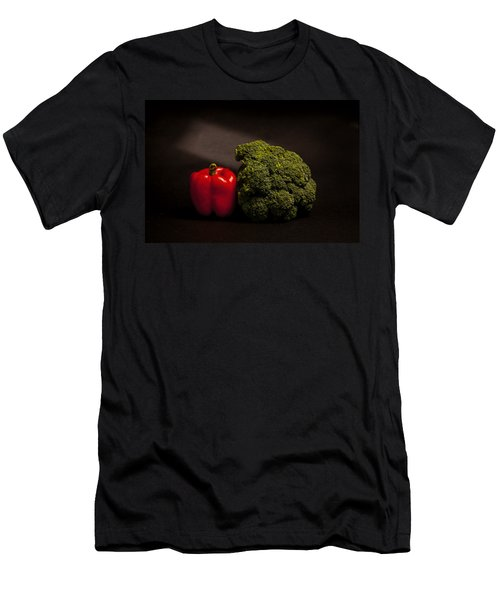 Pepper Nd Brocoli Men's T-Shirt (Slim Fit) by Peter Tellone