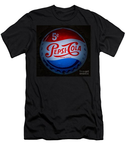 Men's T-Shirt (Slim Fit) featuring the photograph Pepsi Cap Sign by Mitch Shindelbower