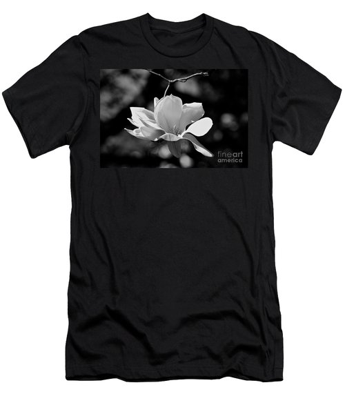 Perfect Bloom Magnolia In White Men's T-Shirt (Athletic Fit)