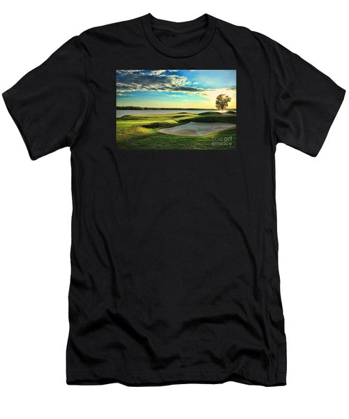Perfect Golf Sunset Men's T-Shirt (Slim Fit) by Reid Callaway