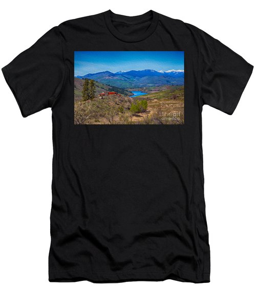 Perrygin Lake In The Methow Valley Landscape Art Men's T-Shirt (Athletic Fit)