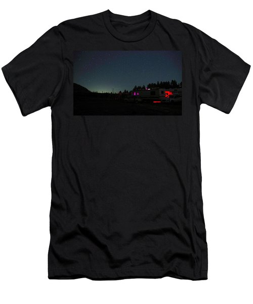 Perseid Meteor-julian Night Lights Men's T-Shirt (Athletic Fit)