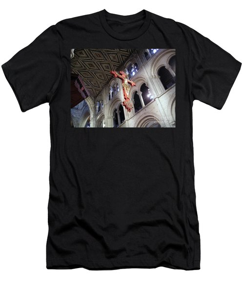 Men's T-Shirt (Slim Fit) featuring the photograph Peterborough Cathedral England by Jolanta Anna Karolska