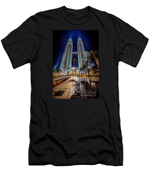 Petronas Twin Towers Men's T-Shirt (Slim Fit) by Adrian Evans