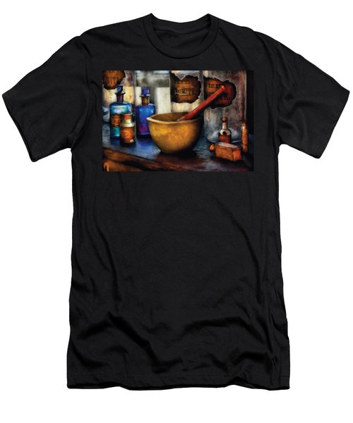 Pharmacist - Mortar And Pestle Men's T-Shirt (Slim Fit) by Mike Savad