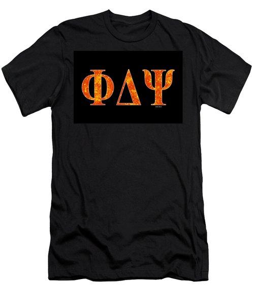 Phi Delta Psi - Black Men's T-Shirt (Slim Fit) by Stephen Younts