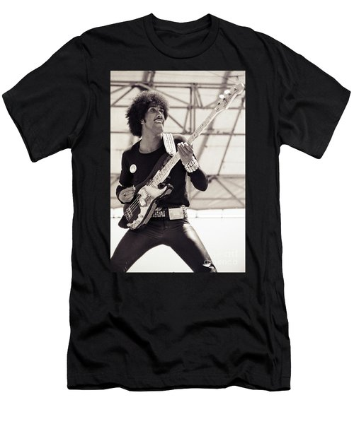 Phil Lynott Of Thin Lizzy Black Rose Tour At Day On The Green 4th Of July 1979 - Unreleased No 2 Men's T-Shirt (Athletic Fit)
