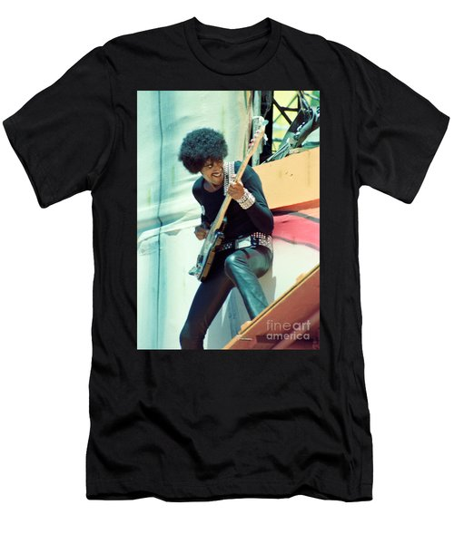 Phil Lynott Of Thin Lizzy - Black Rose Tour Day On The Green 7-4-79  Men's T-Shirt (Athletic Fit)