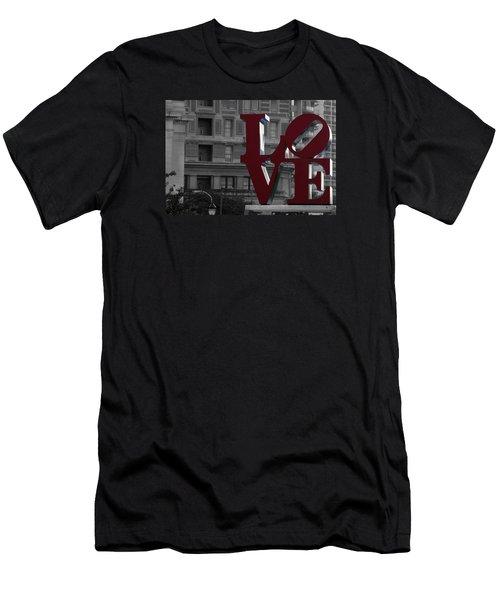 Philadelphia Love Men's T-Shirt (Slim Fit) by Terry DeLuco