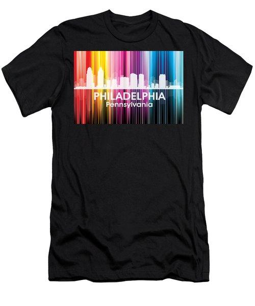 Philadelphia Pa 2 Men's T-Shirt (Athletic Fit)