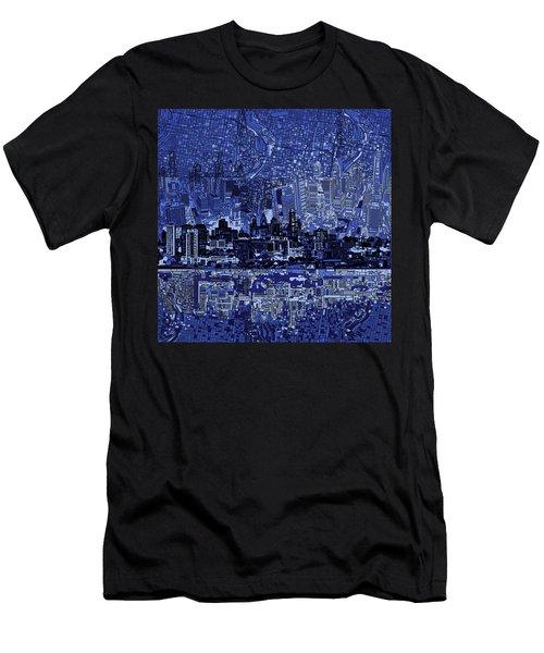 Philadelphia Skyline Abstract 2 Men's T-Shirt (Athletic Fit)
