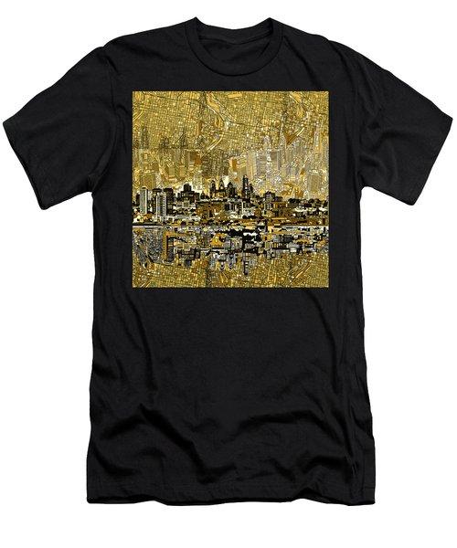 Philadelphia Skyline Abstract 3 Men's T-Shirt (Athletic Fit)