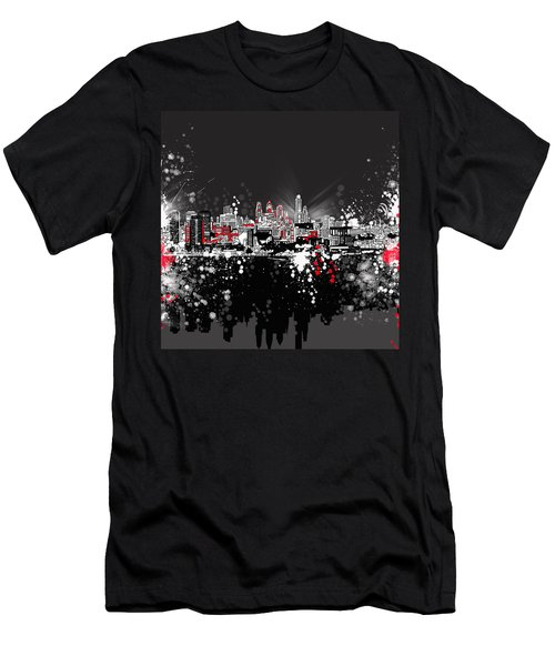 Philadelphia Skyline Abstract 5 Men's T-Shirt (Athletic Fit)