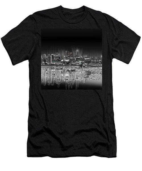 Philadelphia Skyline  Gradient Men's T-Shirt (Athletic Fit)