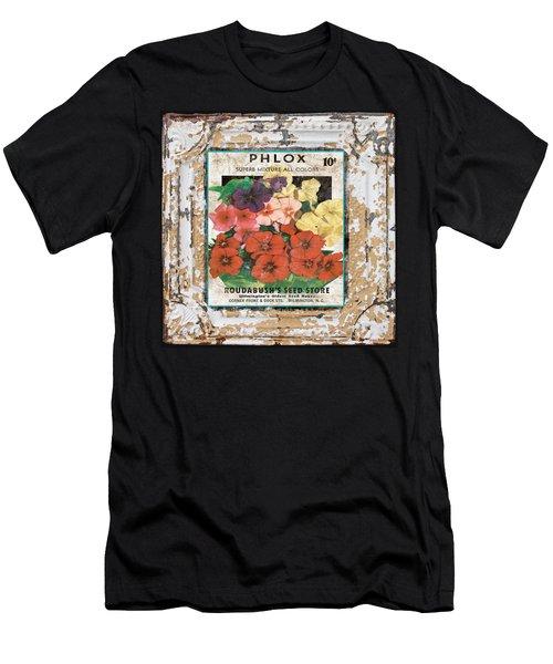 Phlox On Vintage Tin Men's T-Shirt (Athletic Fit)