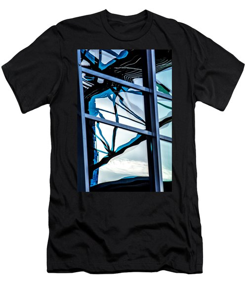 Phoenix Window Reflecting Grids Men's T-Shirt (Athletic Fit)