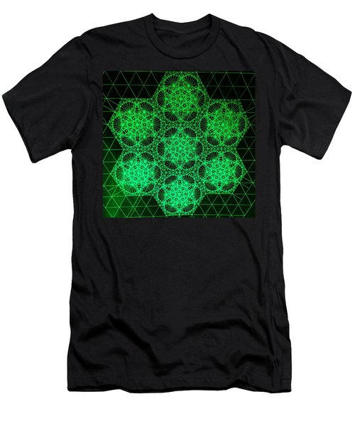 Men's T-Shirt (Slim Fit) featuring the drawing Photon Interference Fractal by Jason Padgett