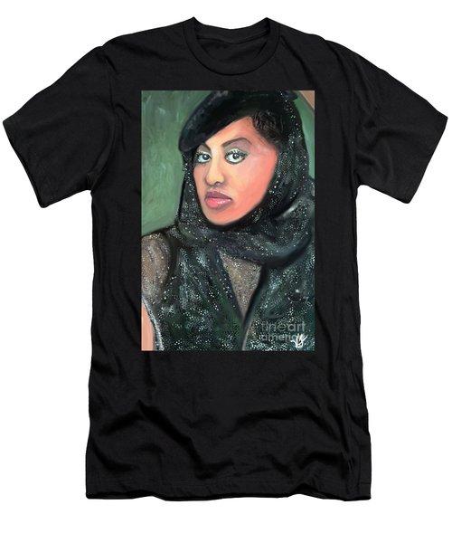 Men's T-Shirt (Slim Fit) featuring the digital art Phyllis Hyman by Vannetta Ferguson