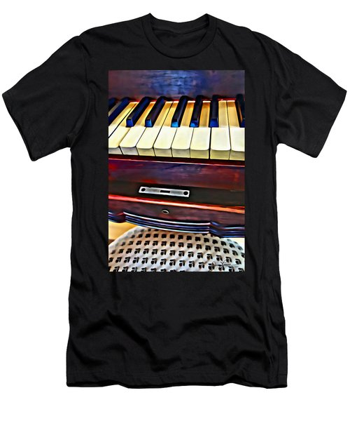 Piano And Stool Men's T-Shirt (Athletic Fit)