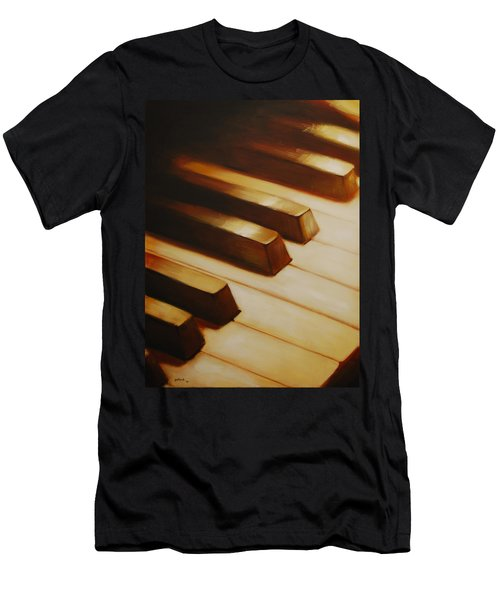 Piano Men's T-Shirt (Athletic Fit)