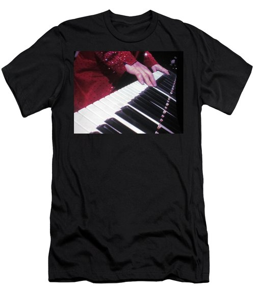 Piano Man At Work Men's T-Shirt (Slim Fit) by Aaron Martens