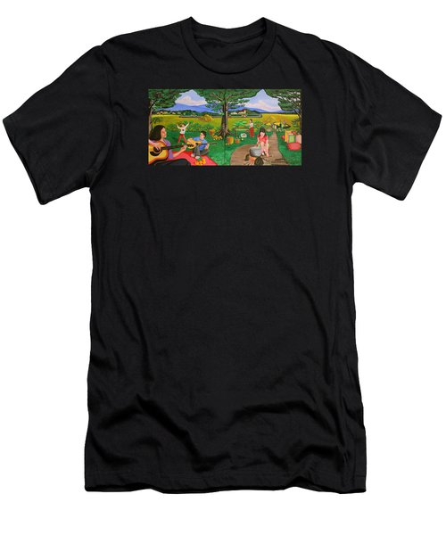 Picnic With The Farmers And Playing Melodies Under The Shade Of Trees Men's T-Shirt (Athletic Fit)