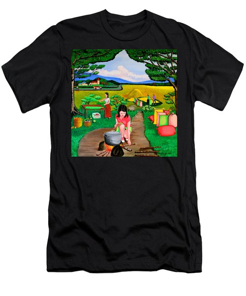 Picnic With The Farmers Men's T-Shirt (Athletic Fit)