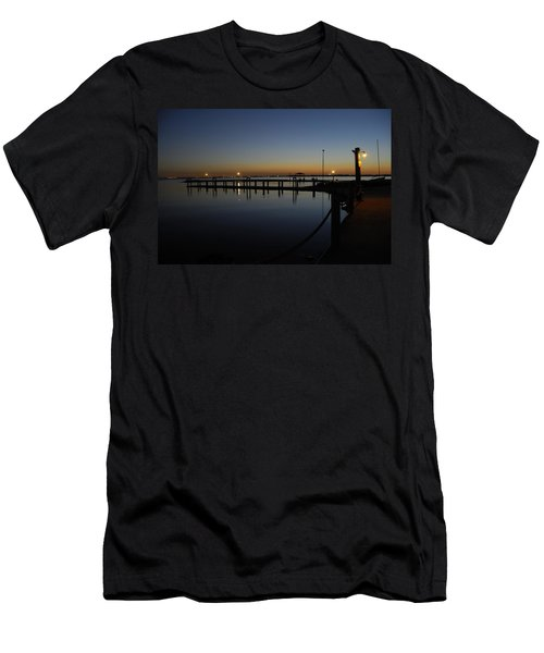 Pier At Chandlers Landing Rockwall Tx Men's T-Shirt (Athletic Fit)