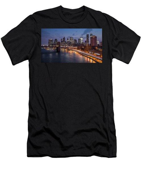 Men's T-Shirt (Slim Fit) featuring the photograph Piercing Manhattan by Mihai Andritoiu