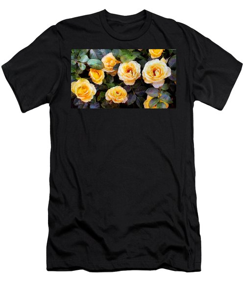 Pierre's Peach Roses Men's T-Shirt (Athletic Fit)