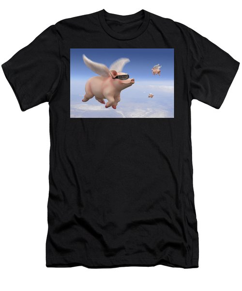 Pigs Fly Men's T-Shirt (Athletic Fit)