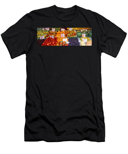 Pike Place Market Seattle Wa Usa Men's T-Shirt (Slim Fit) by Panoramic Images