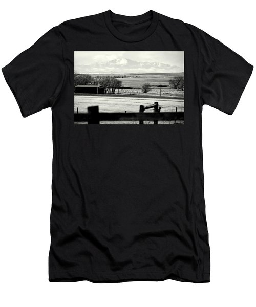 Men's T-Shirt (Slim Fit) featuring the photograph Pikes Peak From Ramah by Clarice  Lakota