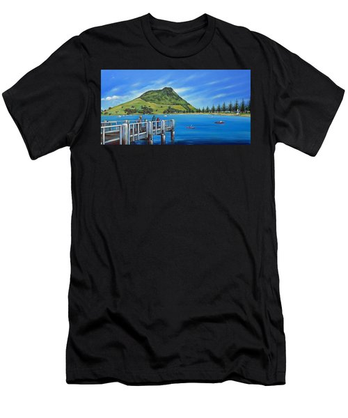 Pilot Bay Mt Maunganui 201214 Men's T-Shirt (Athletic Fit)