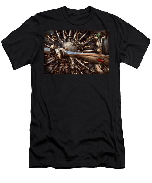 Pilot - Plane - Engines At The Ready  Men's T-Shirt (Slim Fit) by Mike Savad