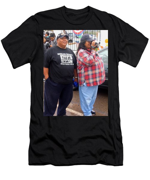 Pima Indians Watching Parade Sacaton Arizona 2005 Men's T-Shirt (Athletic Fit)