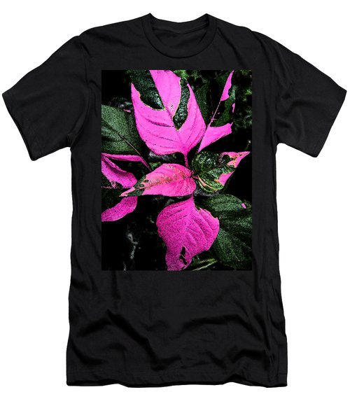 Men's T-Shirt (Slim Fit) featuring the photograph Pink And Green by Aimee L Maher Photography and Art Visit ALMGallerydotcom