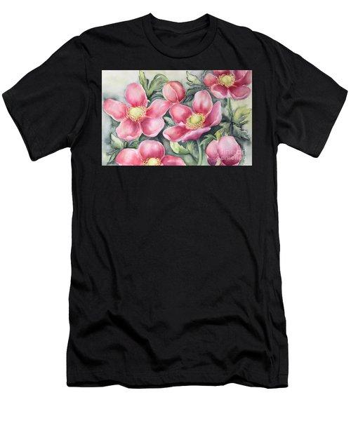 Pink Anemones Men's T-Shirt (Athletic Fit)
