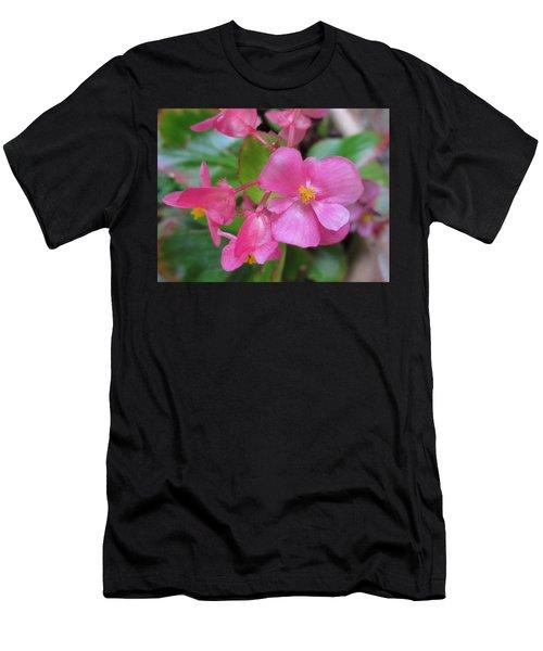 Pink Begonias Men's T-Shirt (Athletic Fit)