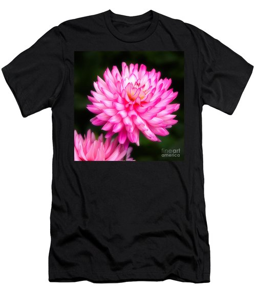 Pink Chrysanths Men's T-Shirt (Athletic Fit)