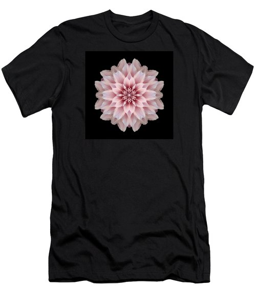 Pink Dahlia Flower Mandala Men's T-Shirt (Athletic Fit)
